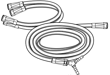 (BC402-05) Gas Supply Line (to 2 flow meters)