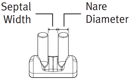 (BC5560-10) Nasal prong 5.5mm nare diameter/6.0mm septal width
