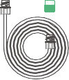 1476000-Sure-Loc oxygen tube with flow meter adaptor, 1.8m