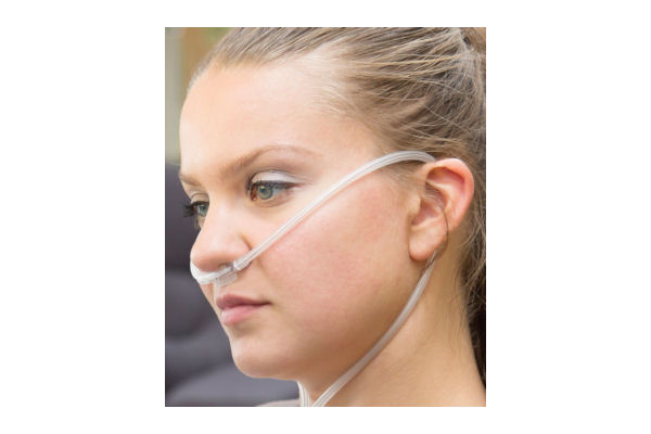 1165011-Dual lumen, adult, nasal cannulae with curved prongs and tube, 1.25m