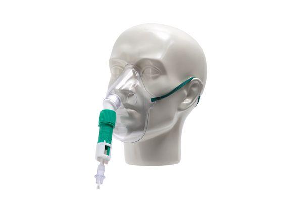 1147000-Dual venturi adult mask kit with tube, 1.8m