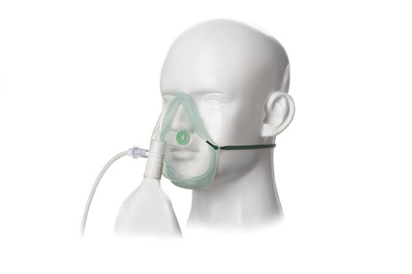 1181015-Intersurgical EcoLite, adult, high concentration oxygen mask with tube, 2.