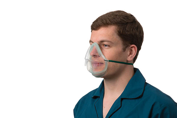 1136015-Intersurgical EcoLite, adult, medium concentration oxygen mask