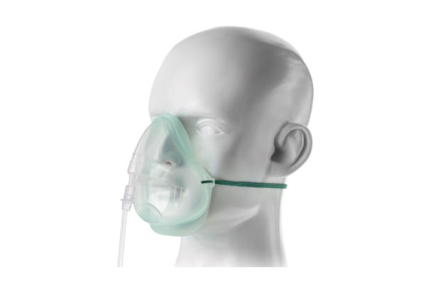 1135015-Intersurgical EcoLite, adult, medium concentration oxygen mask with tube,