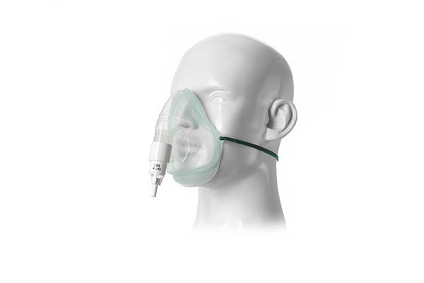 1028085-Intersurgical EcoLite, adult, oxygen mask with 28% venturi valve, white