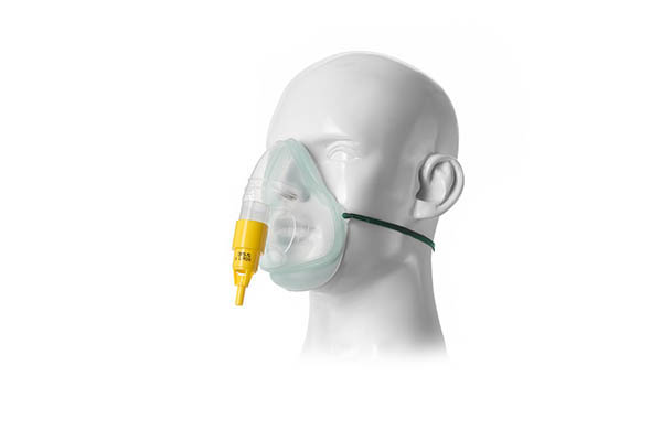 1035085-Intersurgical EcoLite, adult, oxygen mask with 35% venturi valve, yellow