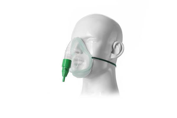 1060085-Intersurgical EcoLite, adult, oxygen mask with 60% venturi valve, green