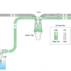 INTERSURGICAL Flextube Breathing System (for Ventilator Pediatric)