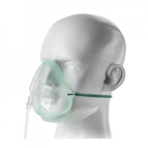 INTERSURGICAL Medium Concentration Oxygen Mask (Ecolite for Adult)