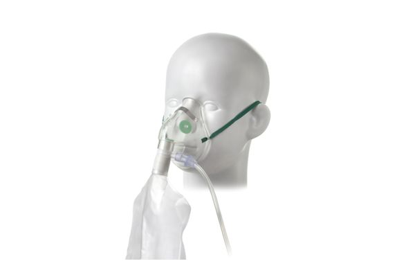 1192000-Paediatric, high concentration oxygen mask with tube, 2.1m
