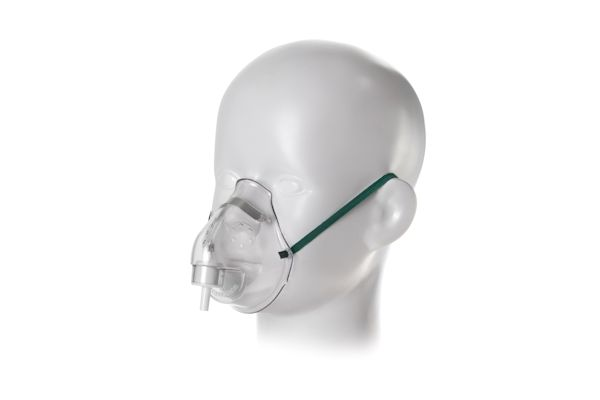 1190000-Paediatric, medium concentration oxygen mask with nose clip