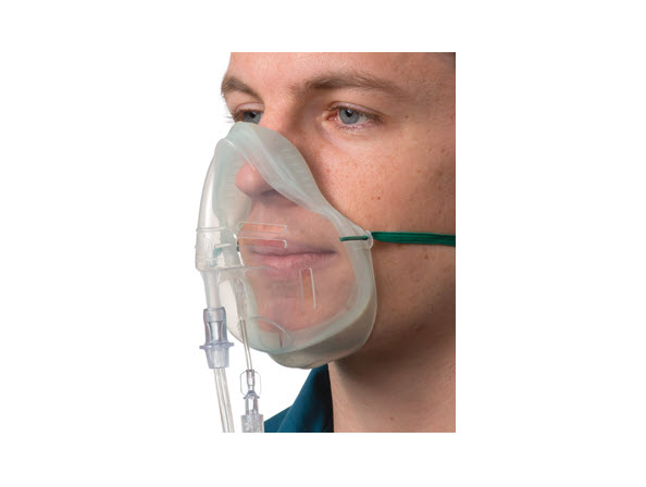 1142015-Sentri Intersurgical EcoLite, adult, mask with CO2 monitoring line and tube&comm