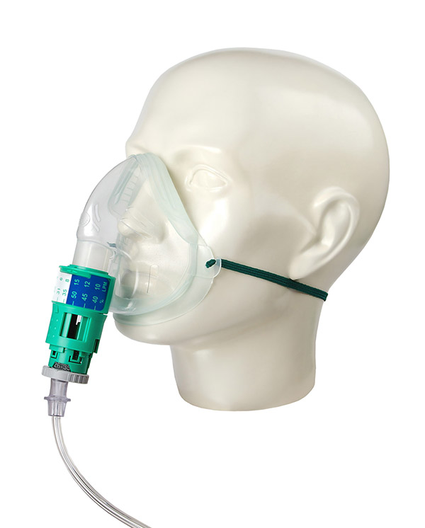 1137000-Silente, Eco, adult, adjustable venturi mask kit with tube, 1.8m