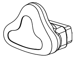 (BC801-10) Nasal mask (medium)