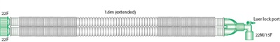 2150000-22mm Compact, extendable breathing system with luer elbow, 1.5m