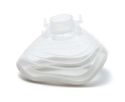 7092000-EcoMask, anaesthetic face mask, size 2, paediatric, with white seal&